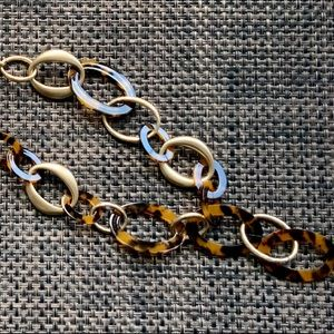 Chico's Tortoise and Gold tone Necklace